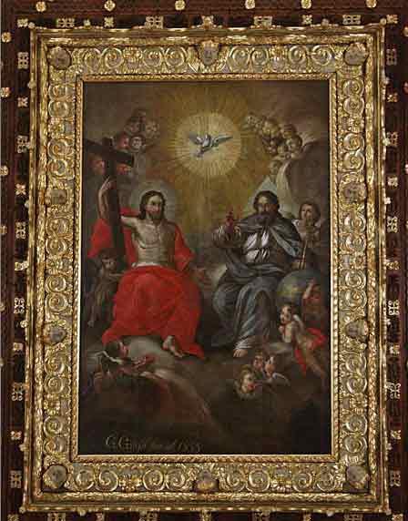 Lecce Basilica di Santa Croce dipinto